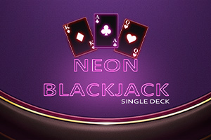 Neon BlackJack Single Deck