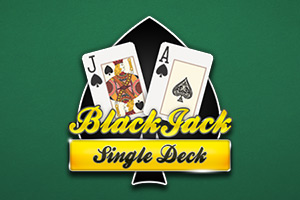 Single deck black jack mh